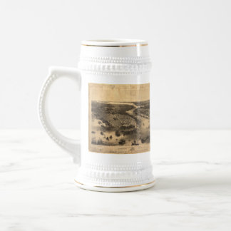 Vintage Pictorial Map of NYC and Brooklyn (1851) Beer Stein