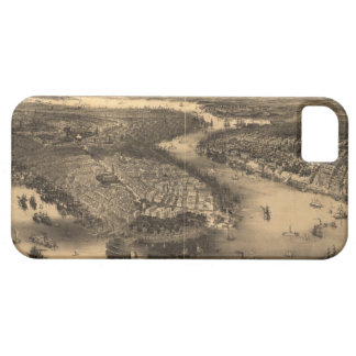 Vintage Pictorial Map of NYC and Brooklyn (1851) iPhone SE/5/5s Case
