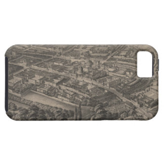 Vintage Pictorial Map of Oxford England (1850) iPhone SE/5/5s Case