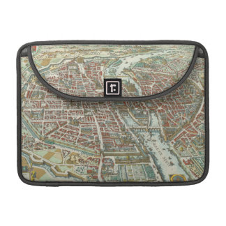Vintage Pictorial Map of Paris (1615) Sleeve For MacBook Pro