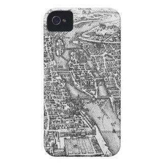 Vintage Pictorial Map of Paris (17th Century) iPhone 4 Case-Mate Case