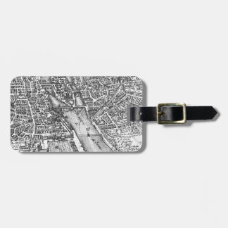 Vintage Pictorial Map of Paris (17th Century) Luggage Tag