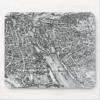 Vintage Pictorial Map of Paris (17th Century) Mouse Pad