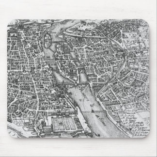 Vintage Pictorial Map of Paris (17th Century) Mouse Pad