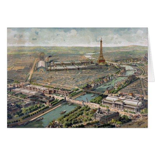 Vintage Pictorial Map of Paris (1900) Card