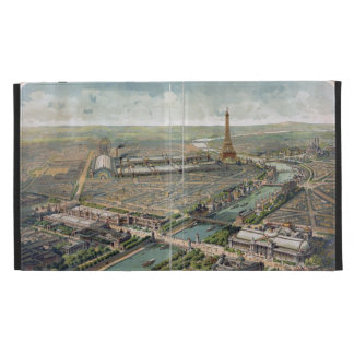 Vintage Pictorial Map of Paris (1900) iPad Folio Cover