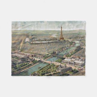 Vintage Pictorial Map of Paris (1900) Fleece Blanket