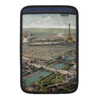 Vintage Pictorial Map of Paris (1900) MacBook Sleeves