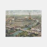 Vintage Pictorial Map of Paris (1900) Fleece Blanket
