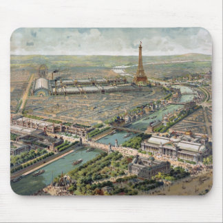 Vintage Pictorial Map of Paris (1900) Mouse Pad