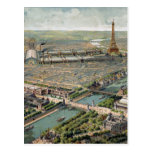 Vintage Pictorial Map of Paris (1900) Postcard