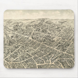 Vintage Pictorial Map of Peabody MA (1877) Mouse Pad