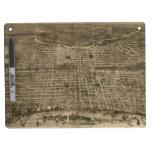 Vintage Pictorial Map of Philadelphia (1872) Dry Erase Whiteboard