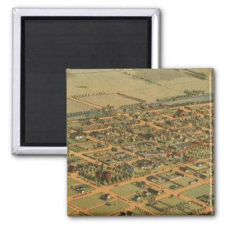 Vintage Pictorial Map of Phoenix Arizona (1885) Refrigerator Magnet