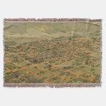 Vintage Pictorial Map of Phoenix Arizona (1885) Throw