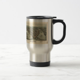 Vintage Pictorial Map of Pittsburgh (1902) 15 Oz Stainless Steel Travel Mug