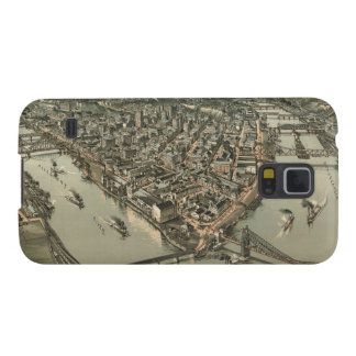 Vintage Pictorial Map of Pittsburgh (1902) Galaxy S5 Cover