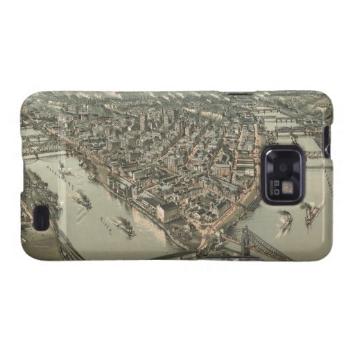 Vintage Pictorial Map of Pittsburgh (1902) Galaxy SII Cover
