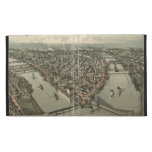 Vintage Pictorial Map of Pittsburgh (1902) iPad Folio Case