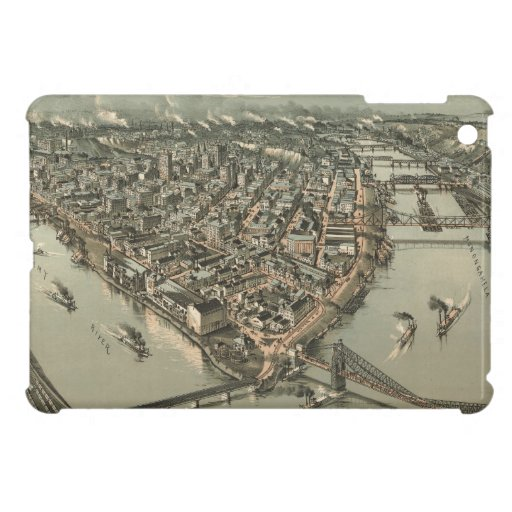Vintage Pictorial Map of Pittsburgh (1902) iPad Mini Cases