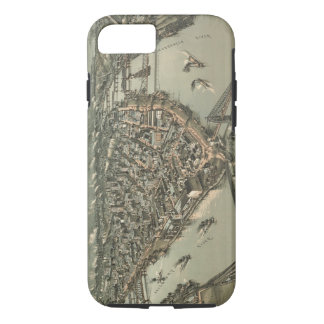 Vintage Pictorial Map of Pittsburgh (1902) iPhone 8/7 Case