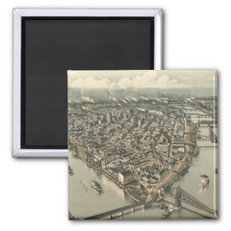 Vintage Pictorial Map of Pittsburgh (1902) Magnet