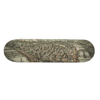 Vintage Pictorial Map of Pittsburgh (1902) Skateboard Deck