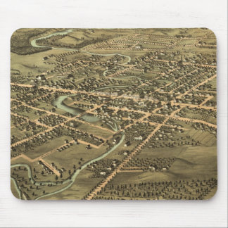 Vintage Pictorial Map of Pontiac Michigan (1867) Mouse Pad