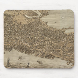 Vintage Pictorial Map of Portland Maine (1876) Mouse Pad
