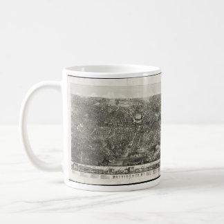 Vintage Pictorial Map of Providence RI (1882) Coffee Mug