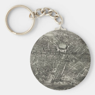 Vintage Pictorial Map of Providence RI 1882 Key Chain