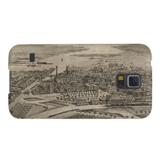 Vintage Pictorial Map of Providence RI (1896) Galaxy S5 Cover