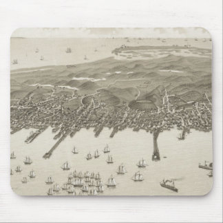 Vintage Pictorial Map of Provincetown (1882) Mouse Pad
