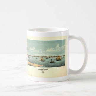Vintage Pictorial Map of Provincetown (1887) Coffee Mugs