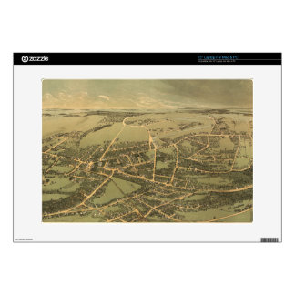 Vintage Pictorial Map of Quincy (1877) Laptop Decal
