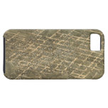 Vintage Pictorial Map of Raleigh NC (1872) iPhone 5 Cover