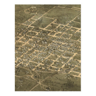 Vintage Pictorial Map of Raleigh NC (1872) Postcard