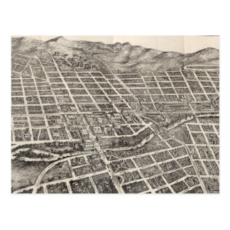 Vintage Pictorial Map of Reno Nevada (1907) Postcard