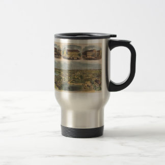 Vintage Pictorial Map of Richmond Virginia (1862) 15 Oz Stainless Steel Travel Mug