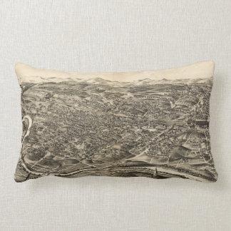 Vintage Pictorial Map of Roanoke Virginia (1891) Lumbar Pillow