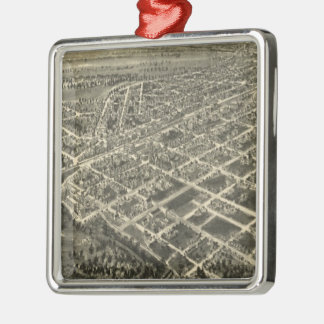 Vintage Pictorial Map of Rocky Mount NC (1907) Metal Ornament