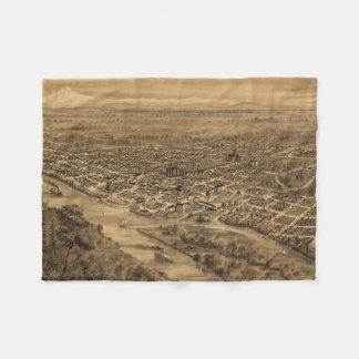Vintage Pictorial Map of Salem Oregon (1876) Fleece Blanket