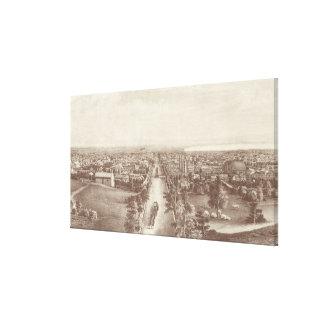 Vintage Pictorial Map of Salt Lake City (1867) Canvas Print