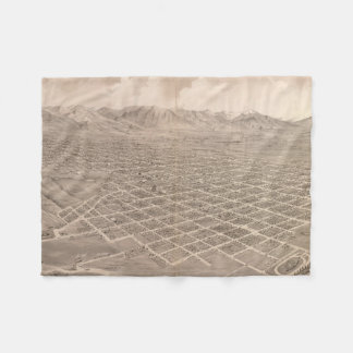 Vintage Pictorial Map of Salt Lake City (1875) Fleece Blanket