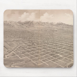 Vintage Pictorial Map of Salt Lake City (1875) Mouse Pads