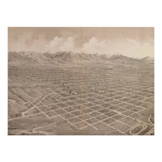 Vintage Pictorial Map of Salt Lake City (1875) Poster