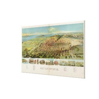 Vintage Pictorial Map of Salt Lake City (1891) Canvas Print