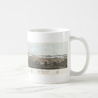 Vintage Pictorial Map of San Francisco (1854) Coffee Mug