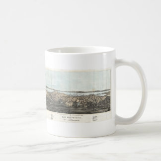 Vintage Pictorial Map of San Francisco (1854) Classic White Coffee Mug