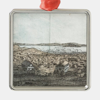 Vintage Pictorial Map of San Francisco (1854) Christmas Tree Ornaments